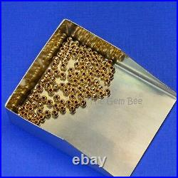 1.88mm 18k Solid Gold Smooth Round Bead Spacer (100)