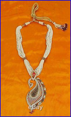 105 Indian Bollywood Diamante Kundan Pearl Gold Tone Bridal Fashion Jewelry Set