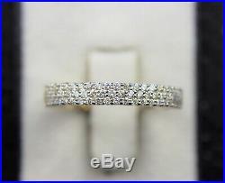 10K Yellow Gold Round Diamond Bead/Prong Set Wedding Band 1.00TCW Size 10