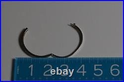 14K White Gold Diamond bangle bracelet with round diamonds set throughout
