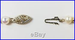 14K Yellow Gold Freshwater Pearl Beaded Necklace & Bracelet Set 15.0 grams