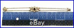 14K Yellow Gold Slide Charm Bracelet 3 Piece Garnet Slide Set Glatter