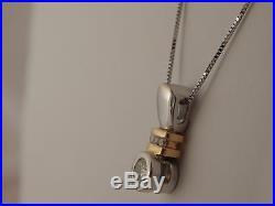 14k 2 tone Gold Round Diamond Drop Pendant 17 Necklace. 39 tcw Bezel Set H/VS2