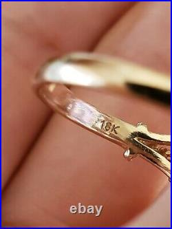 18k Yellow Gold Engraved Setting Amethyst & Pearl Ring