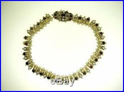 19th C. Austrio-hungarian Gilded Silver Necklace & Earrings Set Garnets & Pearls