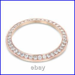 36mm 2ct Bead Set Diamond Bezel 14k Rose Gold For Rolex 36mm Datejust, President
