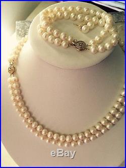 7-8 mm freshwater pearl necklace bracelet earrings set