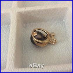 9.5 mm Tahitian Pearl set In 14k Yellow Gold Very beautiful pendant