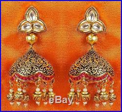 95 Ethnic Indian Bollywood Bridal Gold Tone Wedding Fashion Jewelry Necklace Set