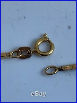 9ct Gold Pearl Set Necklace 37cm Long 3.8grams