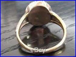9ct yellow gold ring set central citrine surrounded by seed pearls