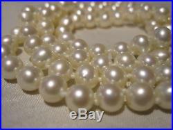 Amazing Vintage 14k Gold Genuine Cultured Pearl Necklace & Bracelet Set Estate