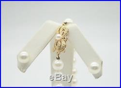 Authentic 7mm Mikimoto South Sea Pearls 18k Gold 7 Bracelet & Stud Earrings Set