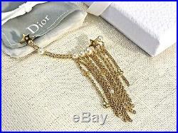 BNIB Full Set Christian Dior Gold Tone White Pearls Ear Cuff Jewelry Earring