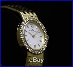 Baume & Mercier 14K Solid Gold 26 Diamonds Mother of Pearl Dial Set Ladies Watch