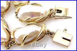 Biwa Pearl Fancy Prong Bracelet & Ring Set 14K Yellow Gold FJ LAL