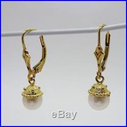 Black Onyx, Pearl & Gold Bead Necklace, Bracelet & Earrings Jewelry Set