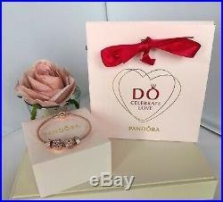 Brand-new Pandora 14k Rose Gold Mesh Bracelet And Charm Set Ale R/ Met 586543
