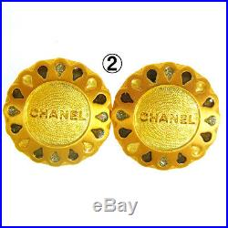 CHANEL Vintage CC Logos Imitation Pearl Earrings 4 Set France Authentic K08309f