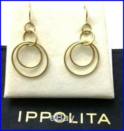 CLEARANCE NEW! Ippolita 18k yellow Gold Teeny Jet Set Drop Earrings