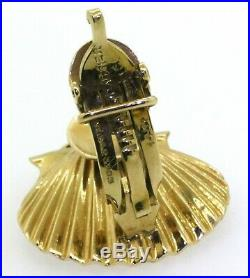 Cartier retro 40s 14K gold/Platinum 1.70CTW diamond/ruby/pearl shell jewelry set