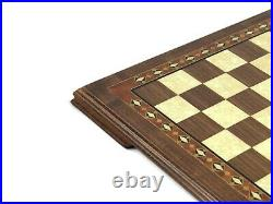 Chess Set Large Wooden Handmade Solid Walnut Helena Mother Of Pearl 19- 2618w