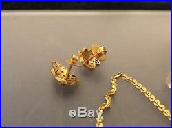 Circa 1950's 22ct Solid GOLD, RUBIES & PEARLS BRIDAL WEDDING SET VINTAGE 47.3g