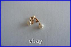 Ciro Vintage Cultured Pearl Necklace & Earring Set, Gold Clasps C1960's, Box