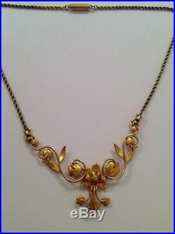 Delightful Fine Victorian 15ct Gold & Seed Pearl Set Necklet