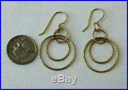 Designer IPPOLITA Classico 18K Yellow Gold Jet Set Dangling Circle Drop Earrings