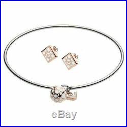 Emporio Armani EGS2486040 Ladies Rose Gold Plated Bracelet & Earrings Gift Set