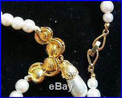 Fabulous Pearl Necklace Set 100% Real Pearl's Gorgeous Queens Style