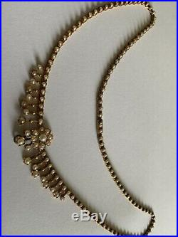 Fine Victorian 15ct Gold Natural Seed Pearl Set Necklace