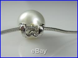 Freshwater Pearl and Diamond Set 18K 14K White Gold Earring Necklace Pendant