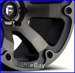 Fuel Beast Wheels Rims Tires 33 12.50 18 Method Fuel D564 Matte Black Dark Tint