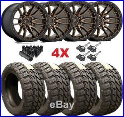 Fuel Bronze Wheels Rims Tires 33 12.50 18 Method Fuel Rebel