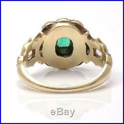Georgian 18ct. Gold Emerald, Pearl and Diamond Set Ring, Circa 1820's