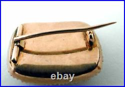 Gold Mourning Ring Antique 15ct Gold Pearl Set Mourning Oblong Brooch