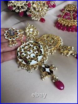 Indian Bridal Set, Bollywood jewelry, choker set, pakistani jewelry