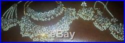 Indian pakistani wedding bridal jewellery set silver gold pearl necklace choker