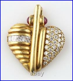Judith Ripka 18k Gold Diamond Pearl Jewelry Set Necklace Earrings Pendant Brooch