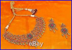 KN85 Indian Bollywood Diamante Kundan Pearl Gold Tone Bridal Fashion Jewelry Set