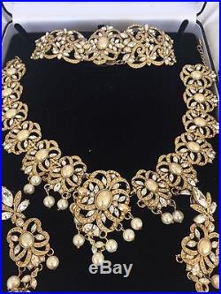 Kyles Jewellery Full Bridal Set Quick Buy Silver/Gold & Pearls Worn Once RRP£900
