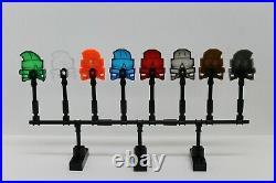 LEGO Bionicle Kanohi Kaukau Mask Lot Set of 8 Translucent, Pearl Silver Gold
