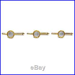 Larter & Sons Solid 14k Yellow Gold Mother Of Pearl Shirt Studs Set