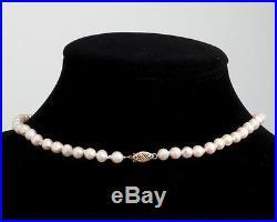 Lovely! Antique Matching Set Natural Pearl Necklace & Bracelet 14k Gold Clasps