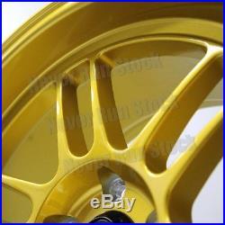 MST SUZUKA 18x11 5x114.3 +10 OFFSET CANDY GOLD PEARL 12 SPOKE TUNER 4 WHEEL SET