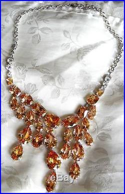 Multi-shape Topaz Swarovski Crystal Set Rhodium Italy Francisca Majorca Pearls