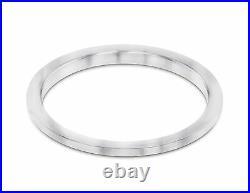 Medium Size 1ct Pave Set Bead Set Diamond Bezel 14k White Fits Rolex 31mm Midsiz