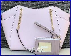 Michael Kors Jet Set Signature Chain Shoulder Tote Bag Purse And Wallet Set Mk